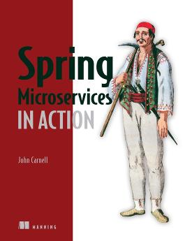 Spring Microservices in Action cover