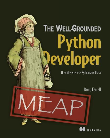The Well-Grounded Python Developer MEAP V03 cover
