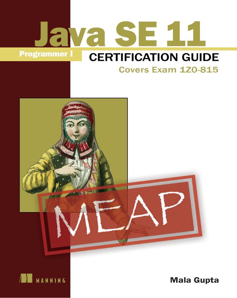 Java SE 11 Programmer I Certification Guide MEAP V03 cover