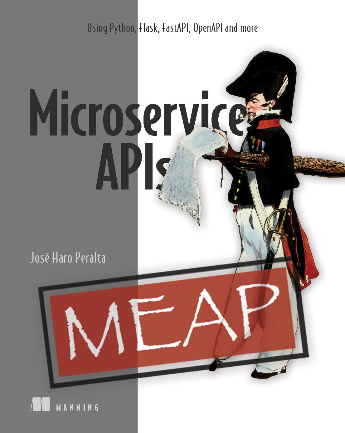Developing Microservice APIs with Python MEAP V05 cover