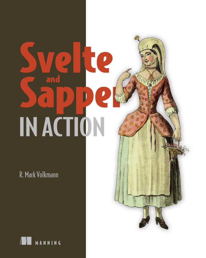 Svelte and Sapper in Action MEAP V05 livebook cover